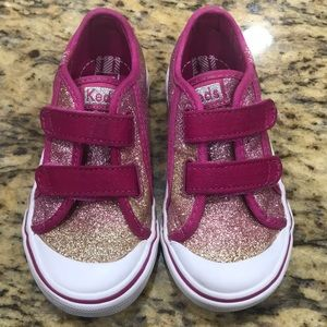 Keds glittery pink shoes